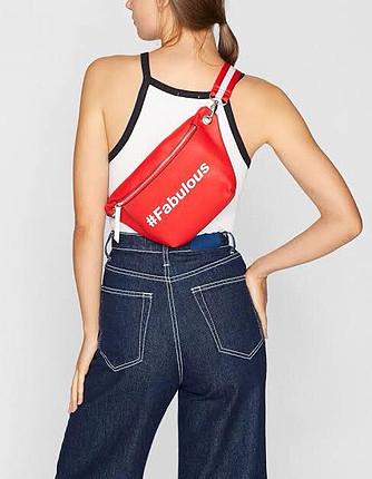 Kırmızı bel çantası
