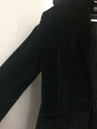 s Beden siyah kadife ceket