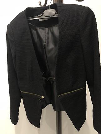 Fermuarli acilir ceket