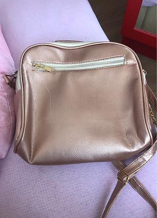 Pembe pudra çanta