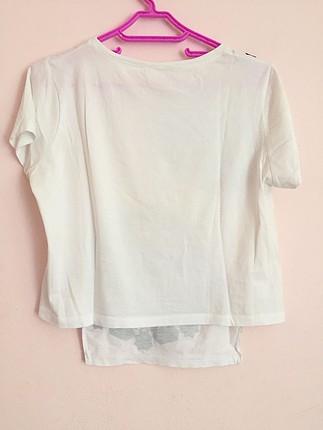 Diğer Desenli Beyaz Tişört