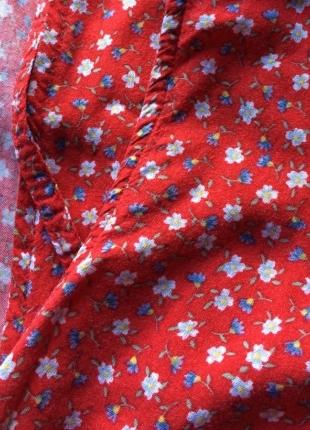 F & F Kırmızı Vintage Çiçekli Elbise