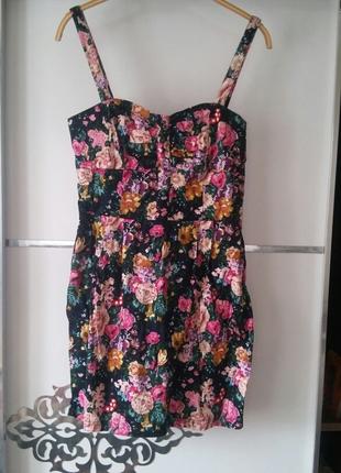 mango cicekli elbise