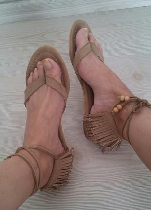 40 Beden kahve Renk bambi suet sandalet
