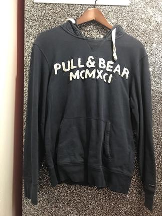 Lacivert Sweatshirt Pull and Bear