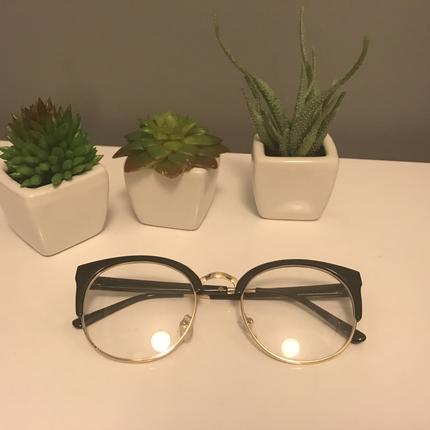 Asos Altın Rengi Çerçeveli Siyah Gözlük