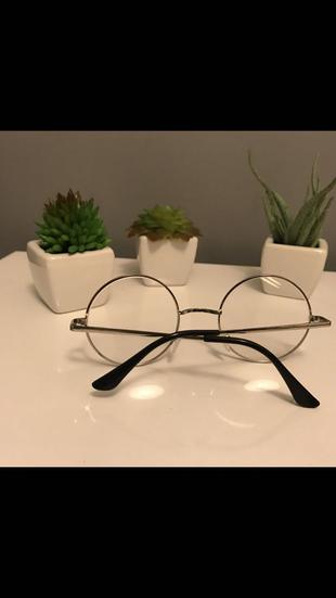 Gümüş rengi harry potter model gözlük