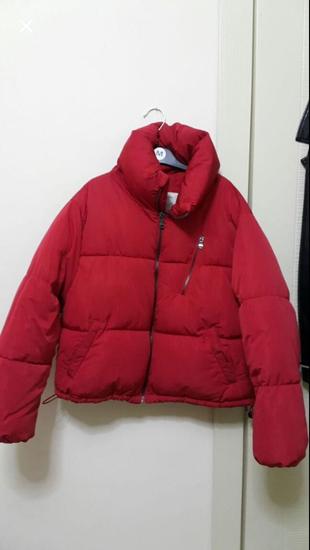 Kırmızı Mont Bershka