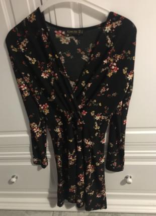 Çiçekli kruvaze yaka elbise çok rahat bir kumaşı var ürün hiç ku