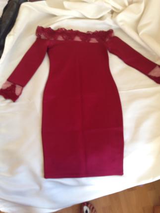 Yeni Etiketli Güpürlü Elbise Abiye