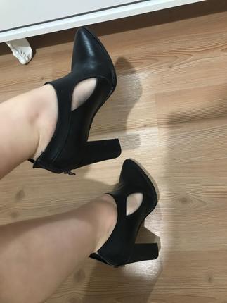 Siyah Bottie Shoe Tek
