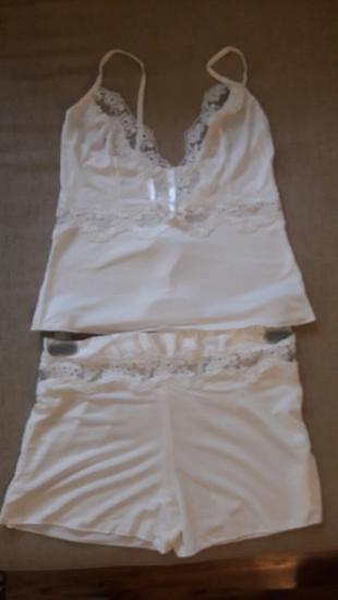 m Beden beyaz Renk şortlu pijama takım