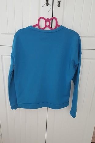 Zara mavi sweatshirt