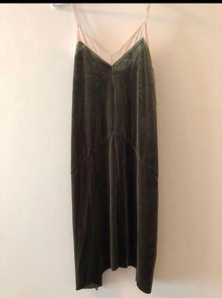 s Beden yeşil Renk Zara Elbise