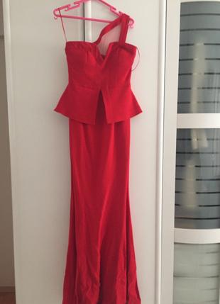 Network Kırmızı Gece Elbisesi