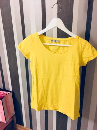 Lcw Sarı Cepli Tişört T-shirt