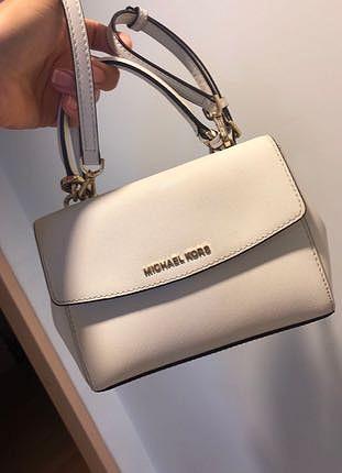 Askılı mini boy beyaz Michael kors çanta