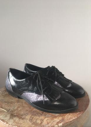 Asos Eflatun Sim Detaylı Siyah Oxford Ayakkabı Ayakkabı