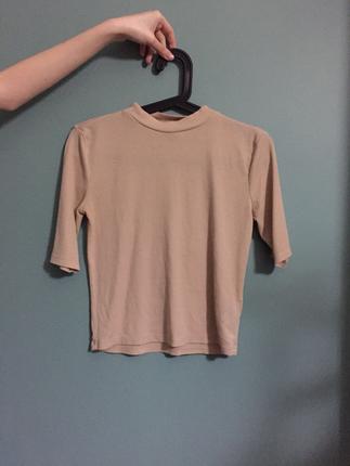 Krem Yarım Tişört H&M
