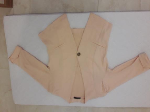 pudra pembe blazer ceket