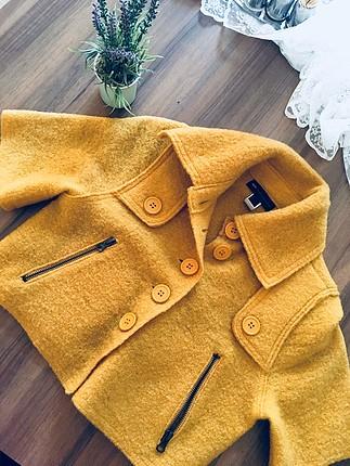Mango mini sarı ceket