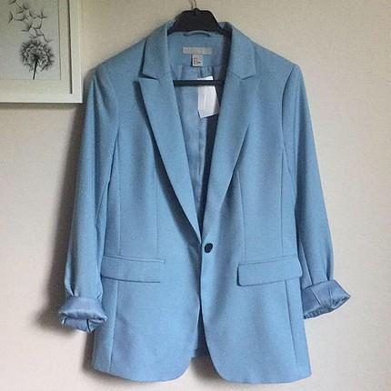 H&m buz mavisi blazer