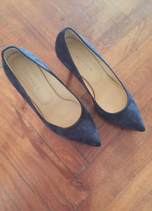 Süet Lacivert Ayakkabı Beymen Collection