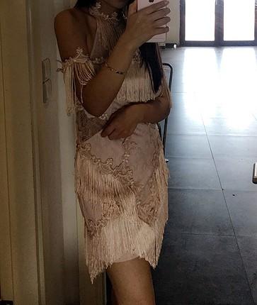 36 Beden pembe Renk Abiye elbise