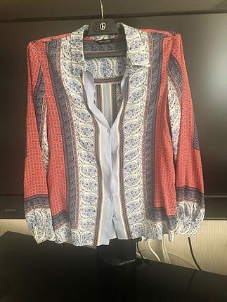 m Beden çeşitli Renk Massimo Dutti ipek gömlek