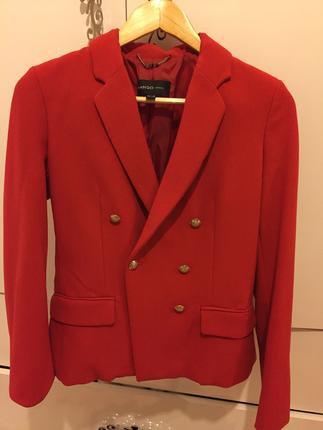 Mango Kırmızı Ceket Dış giyim
