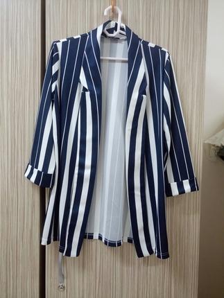 Çizgili Ceket Blazer
