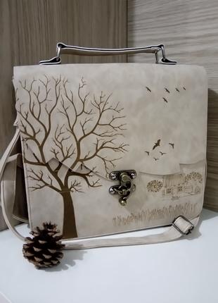 Sonbahar çizim çanta Açik Sütlü Kahve Markasız ürün çapraz çanta 60