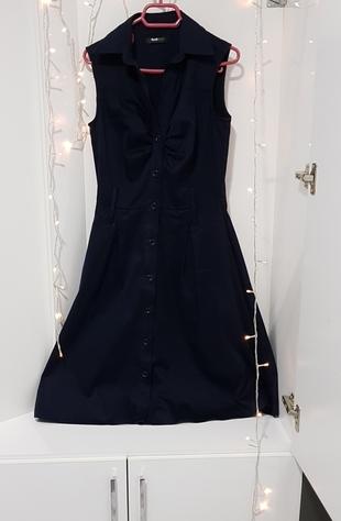 Lacivert Elbise Elbise