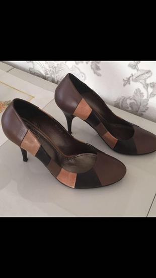 İnci Marka Hakiki Deri Khverengi Ve Tonları Geçişli Ayakkabı Inci