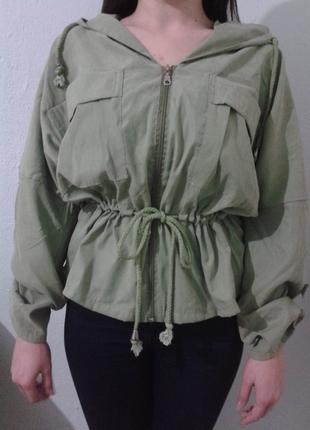 Markasız Ürün Haki Yeşili ceket bluz