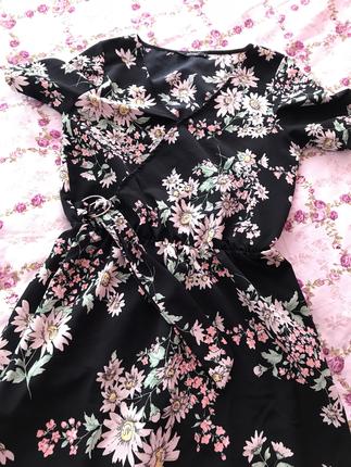 Addax Çiçekli uzun elbise