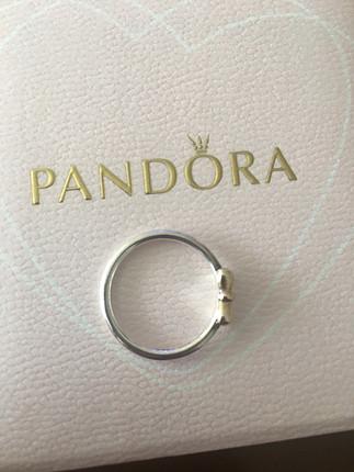 diğer Beden gümüş Renk Pandora two tone yüzük