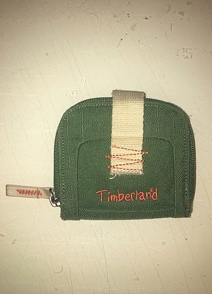 Timberland yeşil-turuncu cüzdan