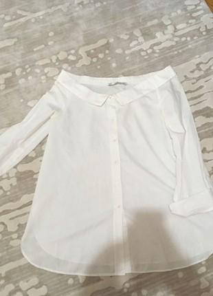 Zara kayık yaka gömlek