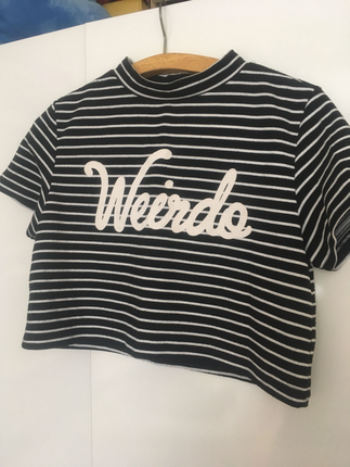 Çizgili Üst T-shirt