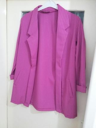 Cizgili Ceket Blazer
