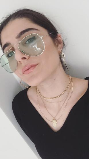 Su yeşili damla gözlük