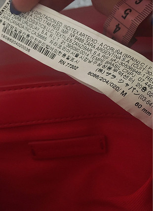 universal Beden kırmızı Renk Zara çanta
