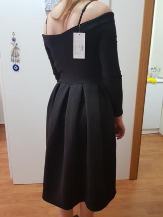Siyah Dalgıç Elbise Ofis stili