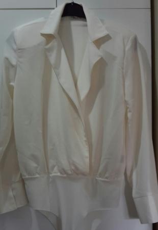 Kruvaze Bodysuit (beyaz)