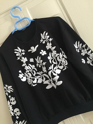 Zara Sweat Çiçek desenli