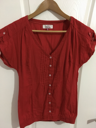 Kırmızı Gömlek Tshirt Bershka