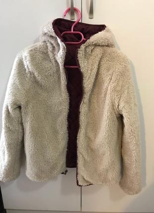 Yumuşak Peluş Ceket Çift Taraflı (ten rengi)