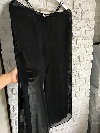 Transparan pijama altı