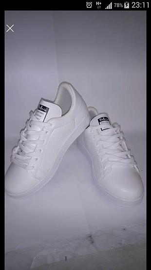 38 Numara Beyaz spor ayakkabi
